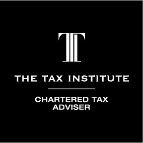 Tax Institute CTA logo with a dark background